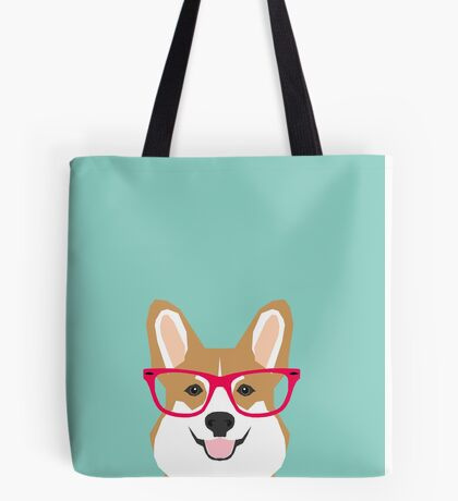 Teagan Glasses Corgi cute puppy welsh corgi gifts for dog lovers and pet owners love corgi puppies Tote Bag