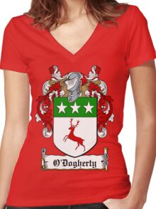 O'Dogherty (Donegal)  Women's Fitted V-Neck T-Shirt