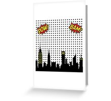 Superhero Scape Greeting Card