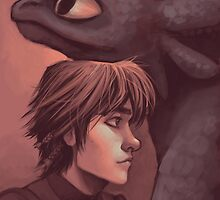 Toothless and Hiccup by Alysa Avery