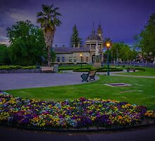 Springtime at the Soldiers Memorial and Old Town Hall by sjphotocomau