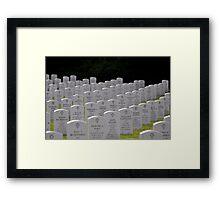 Memorial Day Tribute Framed Print