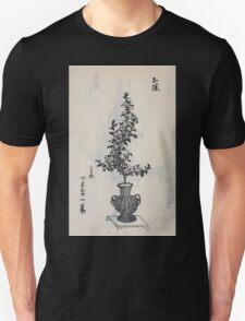 Yenshu ryu ikebana hiak bin no zu shiki konzatsu Flower arrangement in the Enshu style V1 1897 0014 T-Shirt