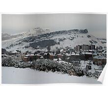 Edinburgh's snow covered hills Poster
