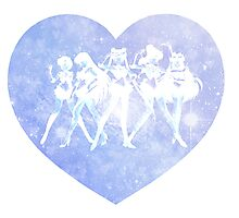 Sailor Moon - Galaxy Heart Blue Photographic Print