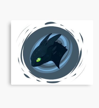 toothless badge Canvas Print
