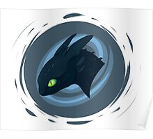toothless badge Poster