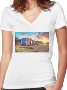 The Aussie Beach Life Women's Fitted V-Neck T-Shirt