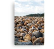 Lyme Regis Pebbles Canvas Print