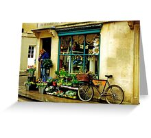 Flower shop, Bath, UK Greeting Card