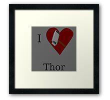 I Heart Thor Framed Print