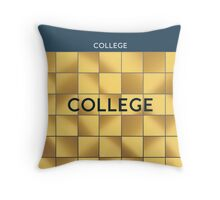 COLLEGE Subway Station Throw Pillow