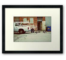 The Man and The Birds Framed Print