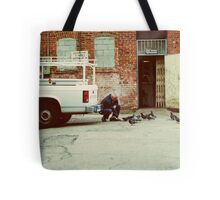 The Man and The Birds Tote Bag