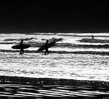 Heading for the Surf - Tofino, BC by Rick Ruppenthal