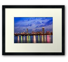 Harvard Bridge, colorful reflection Framed Print