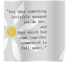 Looking for Alaska Flower + Quote Poster