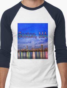 Harvard Bridge, colorful reflection Men's Baseball ¾ T-Shirt