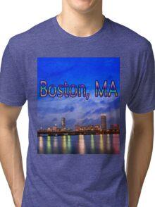 Harvard Bridge, colorful reflection Tri-blend T-Shirt
