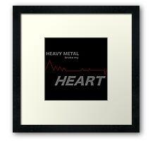 Fall Out Boy - Heavy Metal Broke My Heart Framed Print