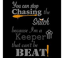 Quidditch Word Play- black background option Photographic Print