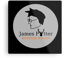 James Potter Defense Squad- Black background Option Metal Print