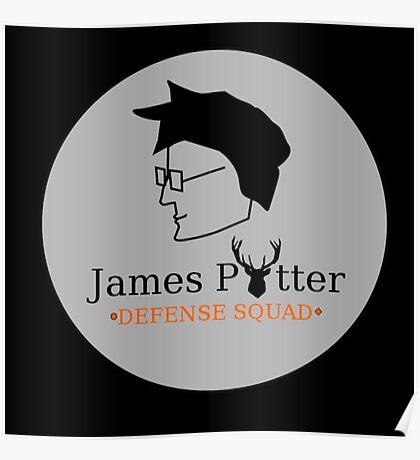 James Potter Defense Squad- Black background Option Poster