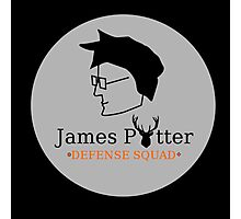 James Potter Defense Squad- Black background Option Photographic Print