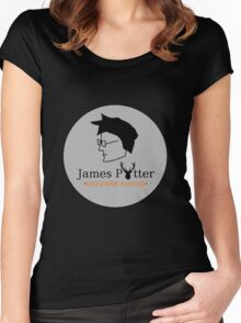 James Potter Defense Squad- Black background Option Women's Fitted Scoop T-Shirt