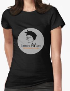 James Potter Defense Squad- Black background Option Womens Fitted T-Shirt