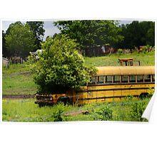 school bus planter Poster