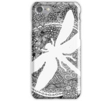 White Dragonfly iPhone Case/Skin