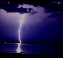Lightning on Noyac Bay by ranaman