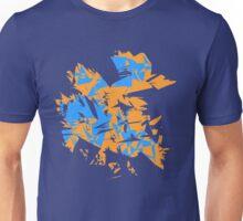 Orange and blue explode Unisex T-Shirt