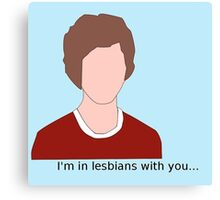 Scott Pilgrim- I'm in lesbians with you Canvas Print