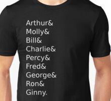 Weasley Family Names Unisex T-Shirt