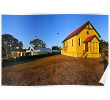The Old & The New Catholic Churches Of Samford. Queensland, Australia. Poster