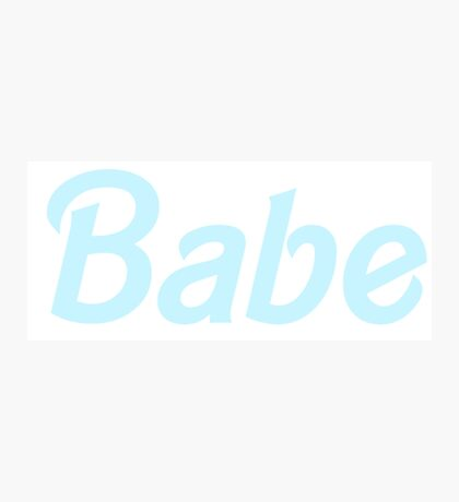 Babe - Pastel Blue Photographic Print