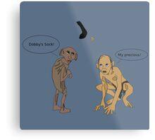 Dobby Vs. Gollum Metal Print