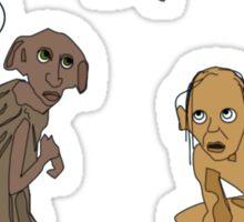 Dobby Vs. Gollum Sticker