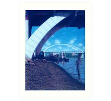 Towards the Granville Bridge - Brisbane Art Print