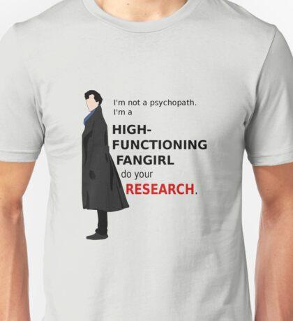 High Functioning Fangirl Unisex T-Shirt