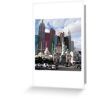statue of liberty in city Greeting Card