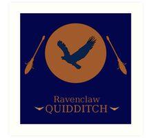 Ravenclaw Hogwarts House Quidditch  Art Print