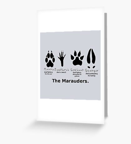 Marauders Animagus Footprint  Greeting Card