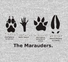 Marauders Animagus Footprint  One Piece - Short Sleeve