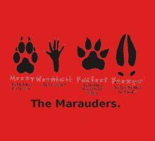 Marauders Animagus Footprint  Kids Tee