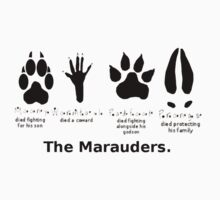 Marauders Animagus Footprint  Kids Tee