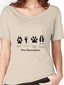 Marauders Animagus Footprint  Women's Relaxed Fit T-Shirt