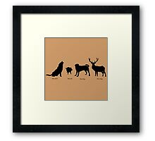 Marauders Full Body Animagus Framed Print